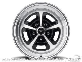 15 x 7 Magnum Alloy Wheel, 5 on 4.5 BP, 4.25 BS, Gloss Black / Machined